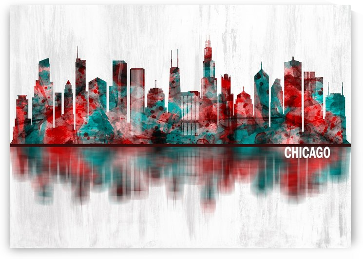 Chicago Illinois Skyline by Towseef