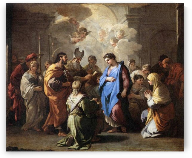 Marriage of the Virgin by Luca Giordano
