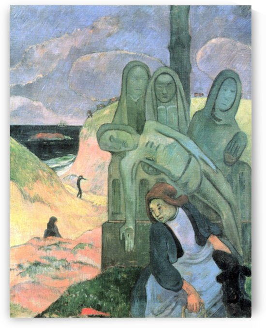Green Christ by Gauguin by Gauguin