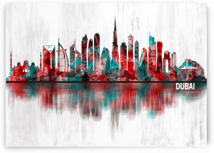 Dubai United Arab Emirates Skyline by Towseef