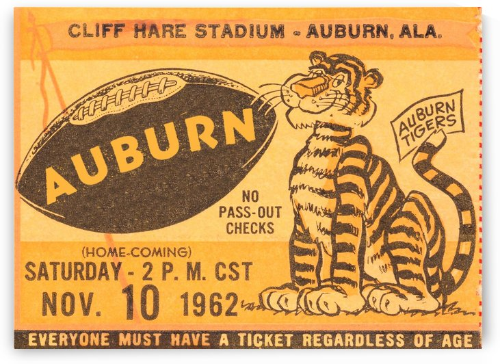 auburn university football wall art by Row One Brand