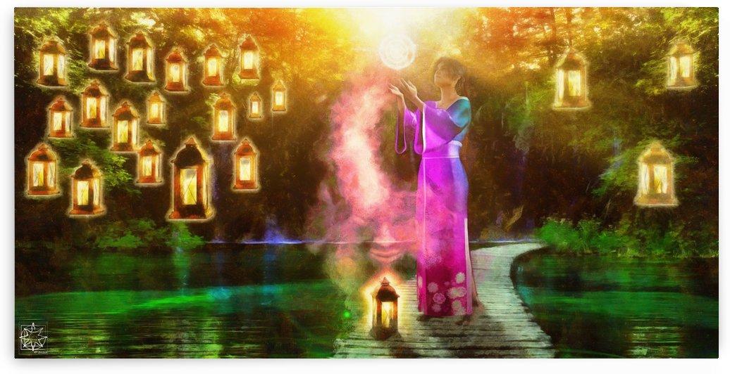 Lantern Prayer by ChrisHarrisArt