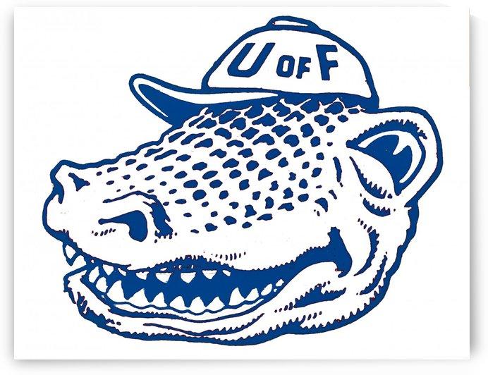 vintage florida gators wall art blue by Row One Brand