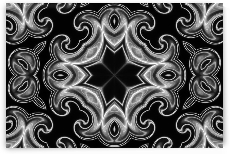 Classic Fractal in black and white by Bentivoglio Photography