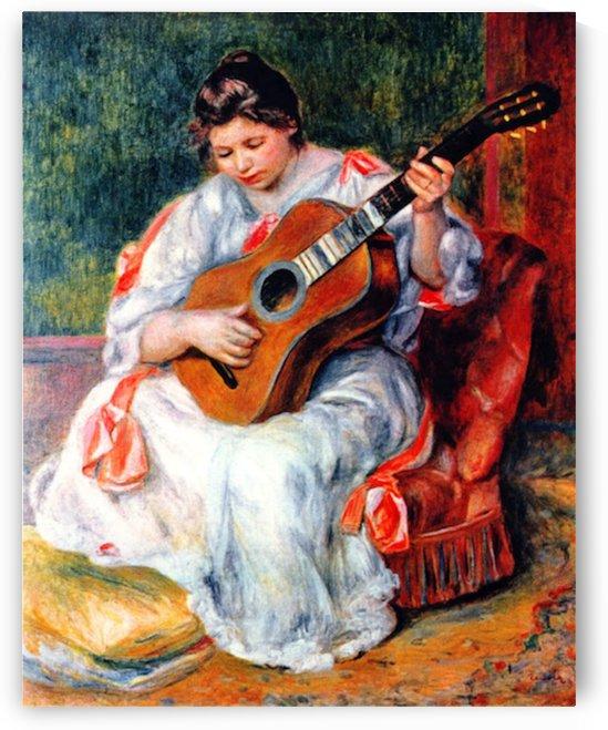 Guitarist by Renoir by Renoir