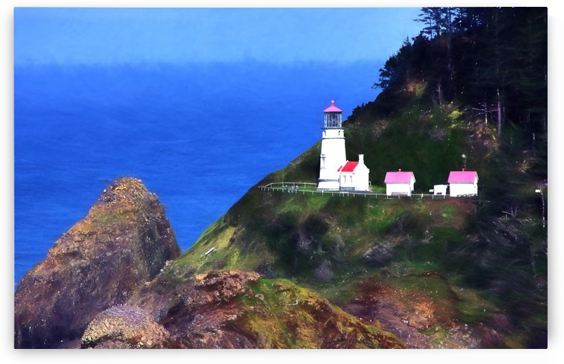 Lighthouse  by Aurelia Schanzenbacher Sisters Fine Arts