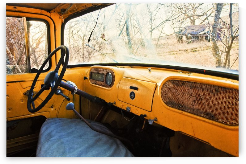 Old yellow truck by Marie-Andree Blais