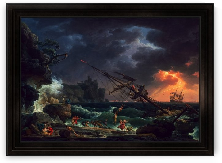 The Shipwreck by Claude Joseph Vernet Old Masters Fine Art Reproduction by xzendor7