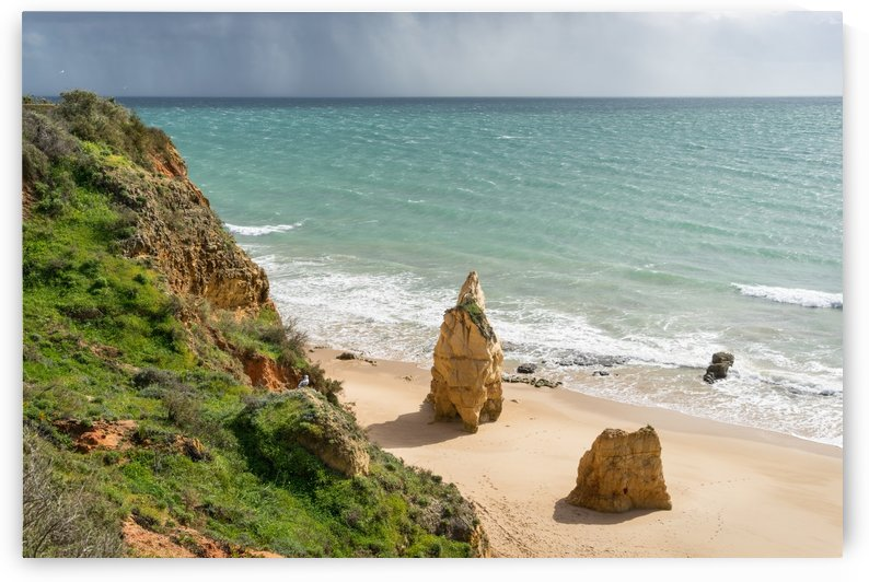 Approaching Storm - Rocky Coast at Praia da Rocha in Algarve Southern Portugal by GeorgiaM