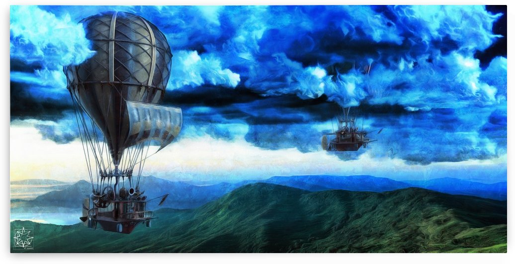 The Skyships Part Two by ChrisHarrisArt