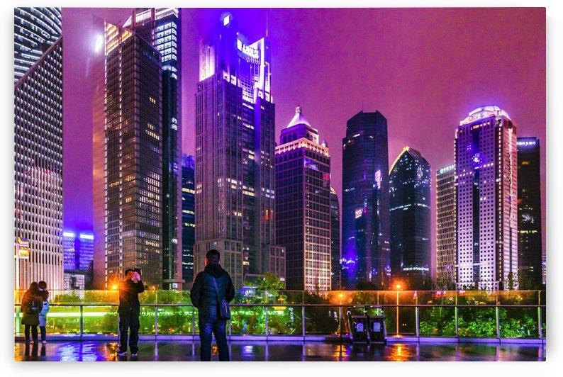 Lujiazui District Nigth Scene Shanghai China by Daniel Ferreia Leites Ciccarino