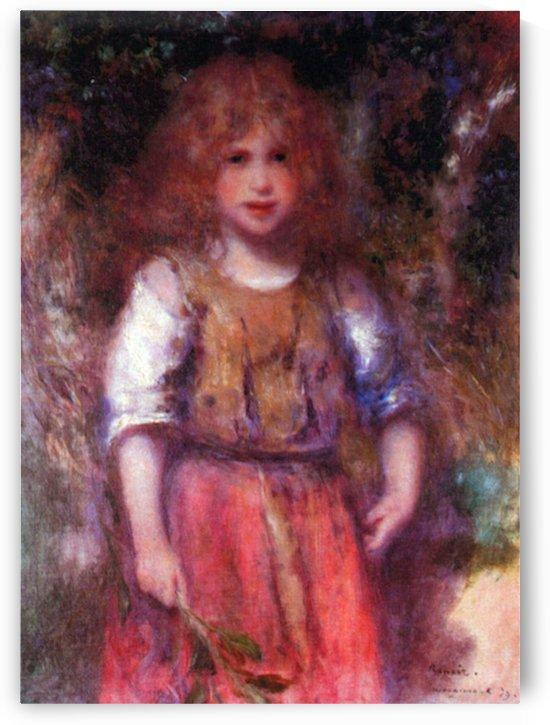 Gypsy girl by Renoir by Renoir
