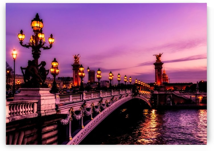 paris france bridge river water by Shamudy