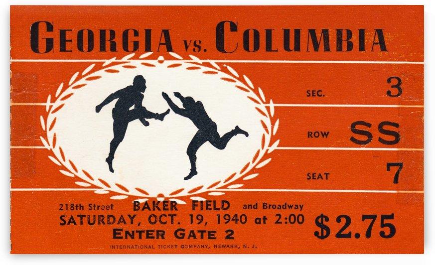 1940 Georgia vs. Columbia by Row One Brand