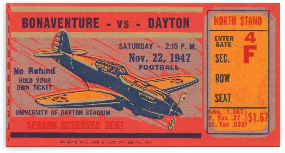 best ticket stub art aviation collection by Row One Brand