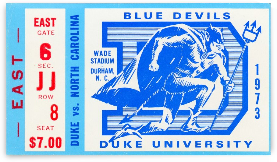 1973 Duke vs. North Carolina by Row One Brand