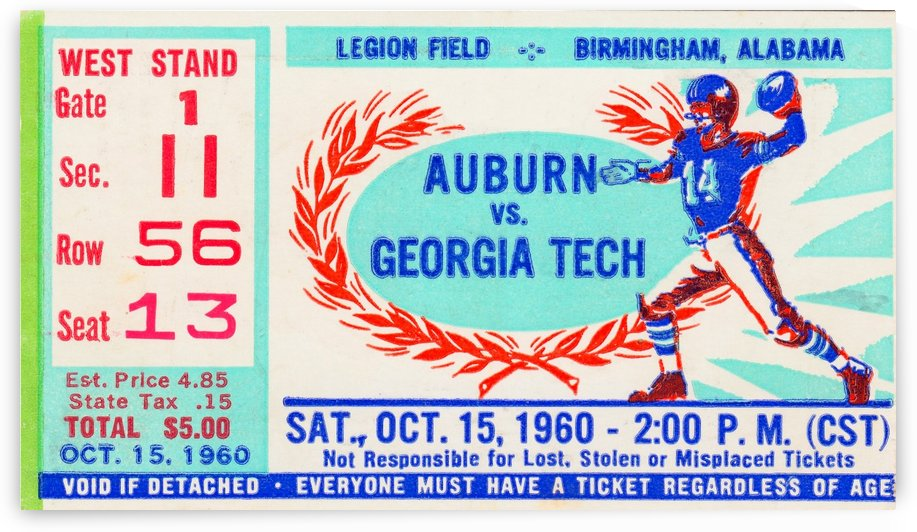 1960 Auburn vs. Georgia Tech by Row One Brand