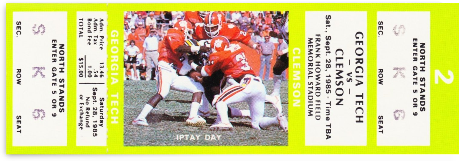1985 Georgia Tech vs. Clemson by Row One Brand