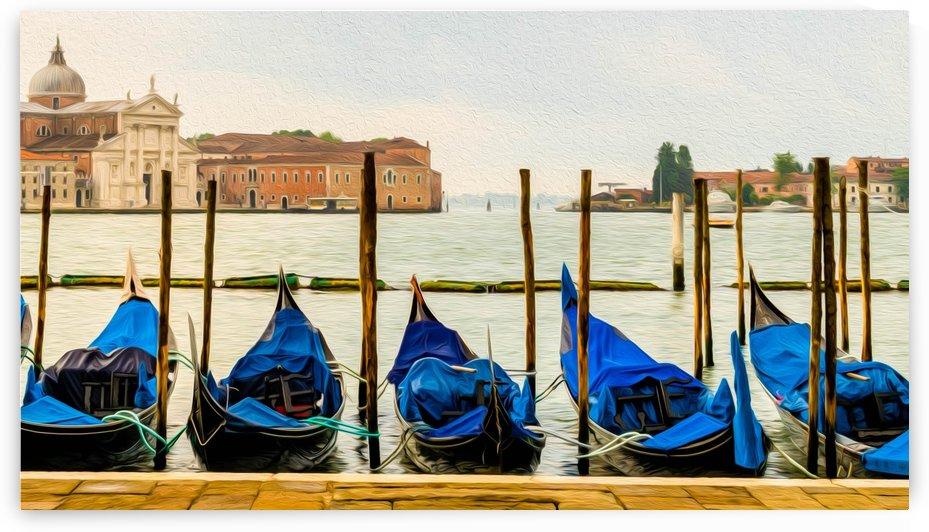 Gondolas by Mark A  Harris