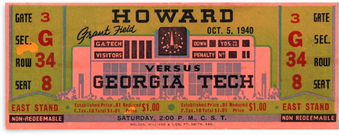 1940 Howard vs. Georgia Tech by Row One Brand