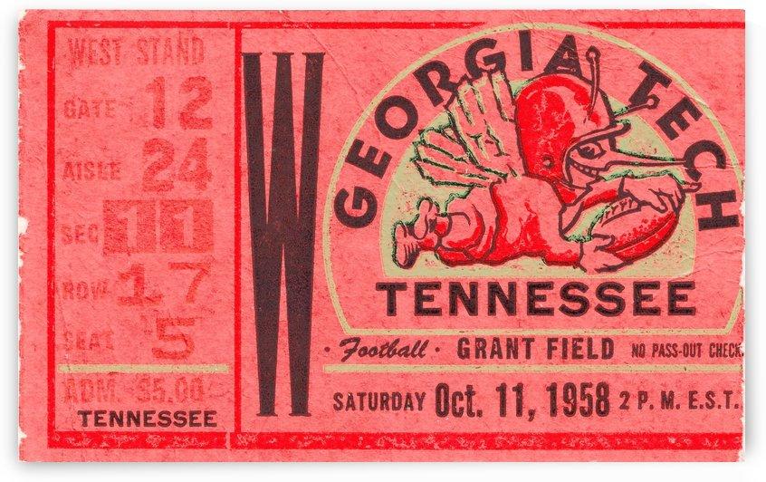 1958 Tennessee vs. Georgia Tech by Row One Brand