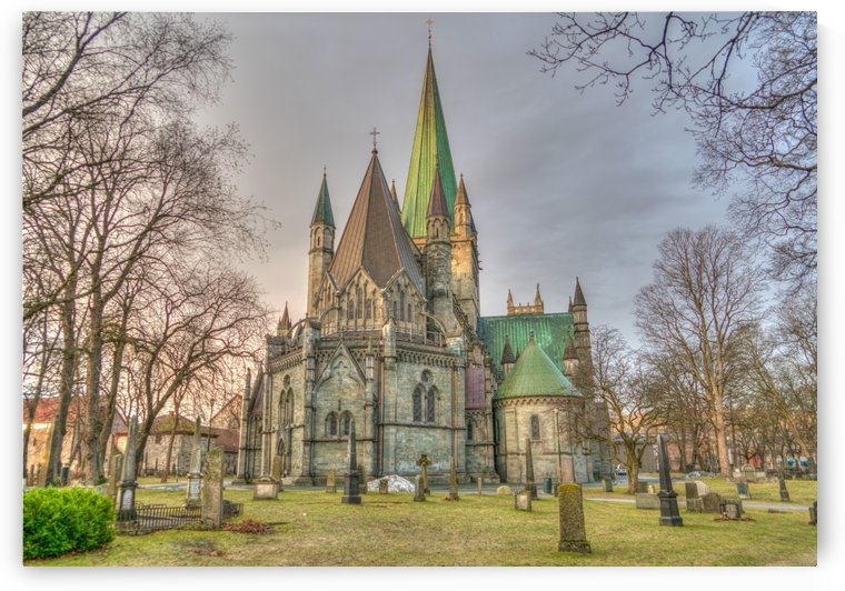 nidaros cathedral trondheim norway by Shamudy