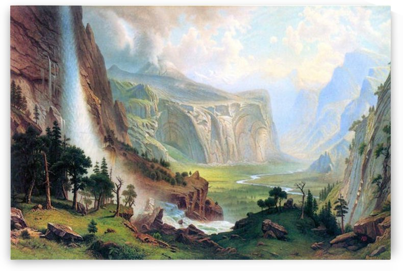 Half Dome in Yosemite by Bierstadt by Bierstadt
