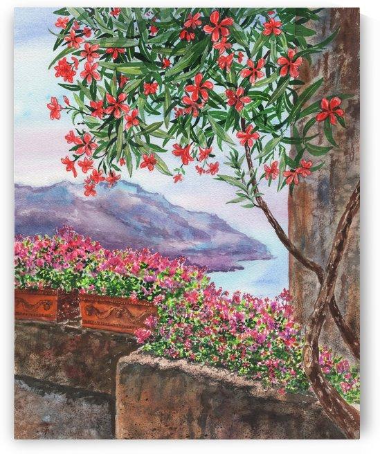 Seascape Amalfi Coast Italy Shore Ravello by Irina Sztukowski