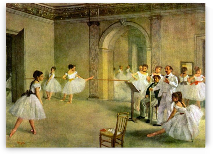 Hall of the Opera Ballet in the Rue Peletier by Degas by Degas