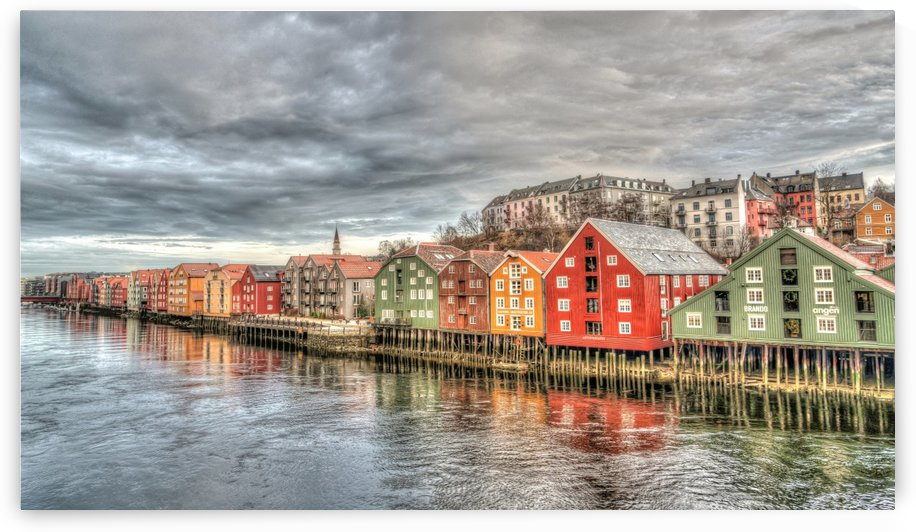 trondheim row houses norway by Shamudy