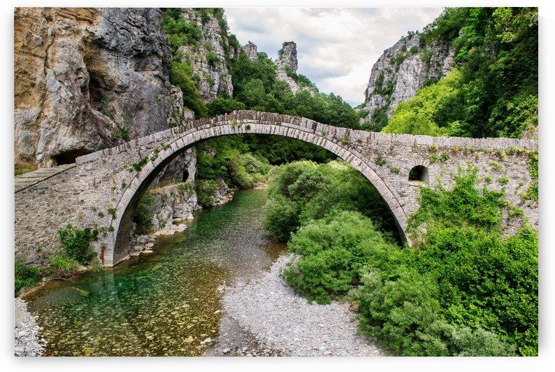 beautiful landscape bridge greece by Shamudy
