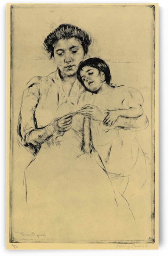 Handkerchief by Cassatt by Cassatt