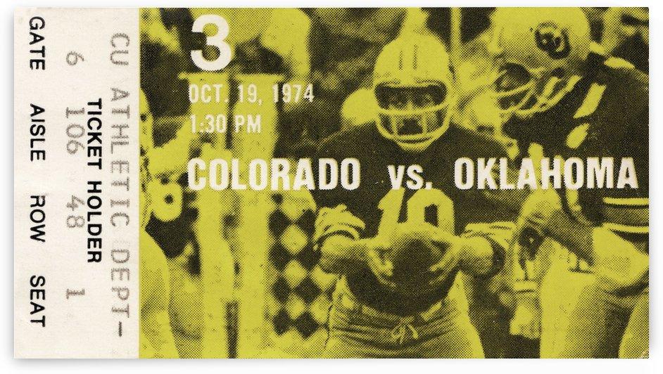 1974 Colorado vs. Oklahoma Sooners by Row One Brand