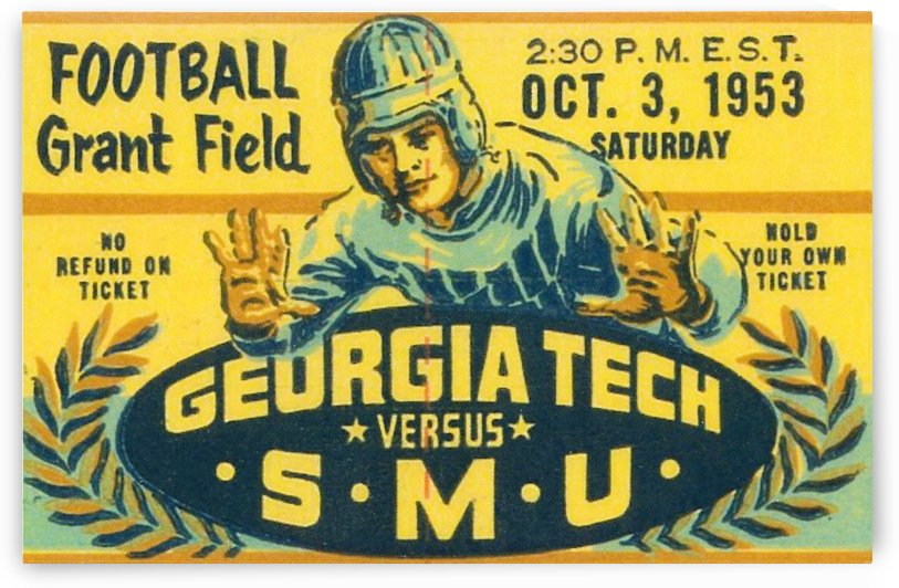 1953 college football art by Row One Brand