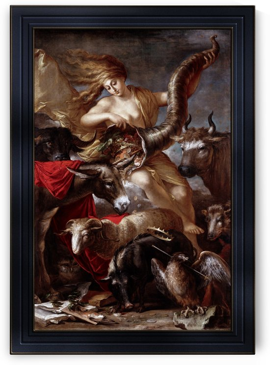 Allegory of Fortune by Salvator Rosa Old Masters Reproduction by xzendor7