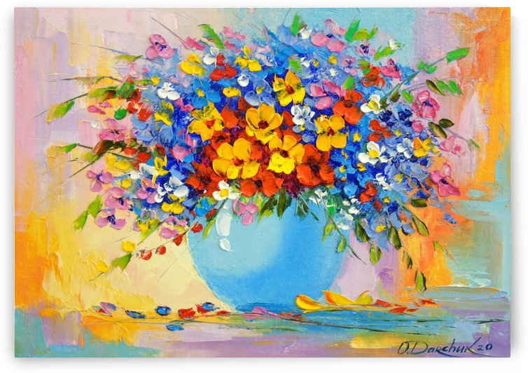 A bouquet of bright flowers by Olha Darchuk