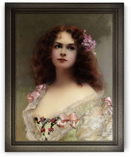The Parisian by Vittorio Matteo Corcos Old Masters Fine Art Reproduction by xzendor7