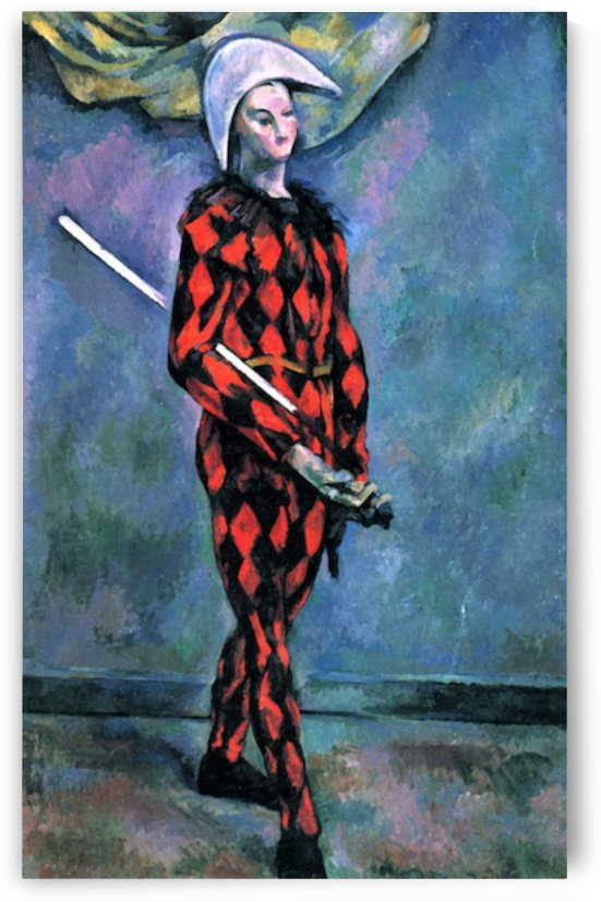 Harlequin by Cezanne by Cezanne