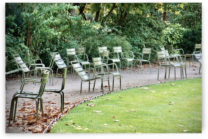 Chaises du Luxembourg   6 by Alain Harrus