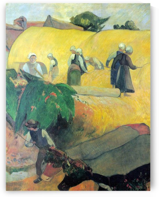 Harvest In Brittany by Gauguin by Gauguin