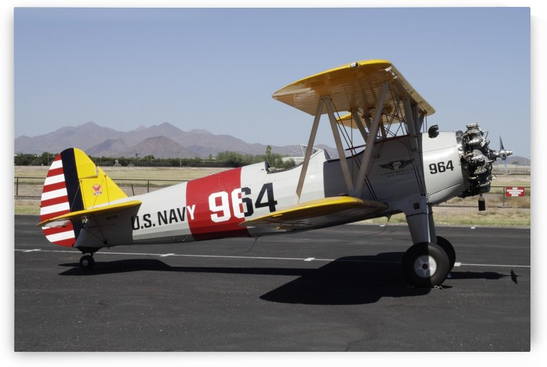 PT-17 Stearman Airplane Commemorative Air Force AirBase Arizona Mesa by PKWilliamsPhotography