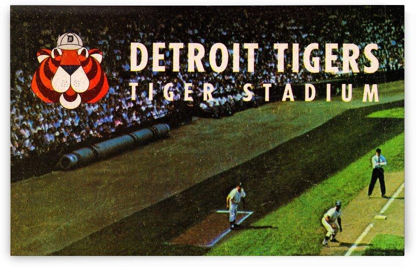 detroit tigers tiger stadium art print by Row One Brand