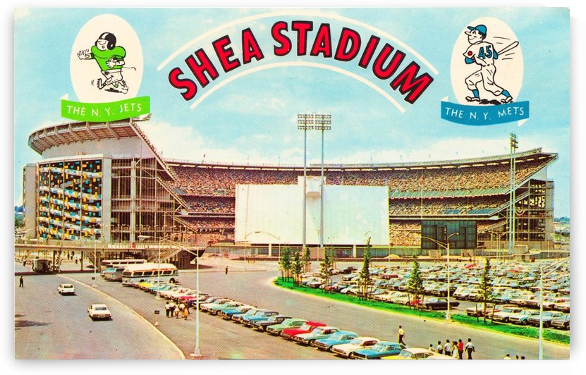 Vintage Shea Stadium Poster by Row One Brand