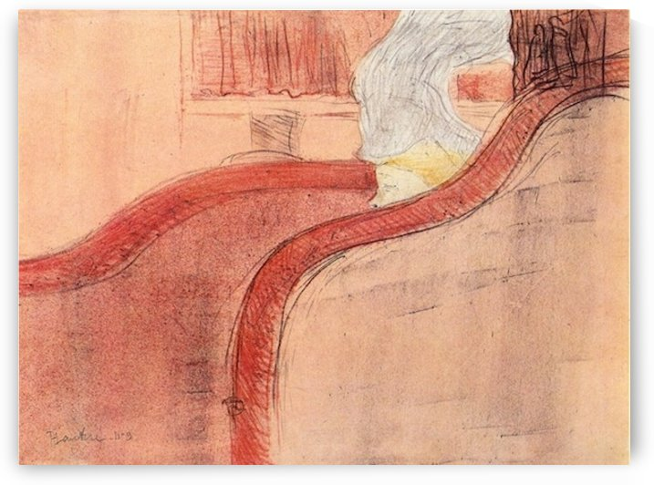 he small loge by Toulouse-Lautrec by Toulouse-Lautrec