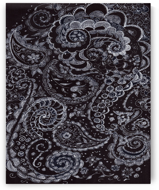 paisley chalk design by Watermelon Stand