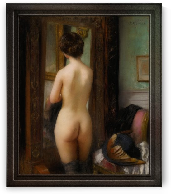 Nu A La Psyche by Henri Gervex Old Masters Reproduction by xzendor7