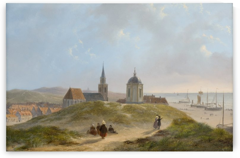 View on Scheveningen by Bartholomeus Johannes van Hove