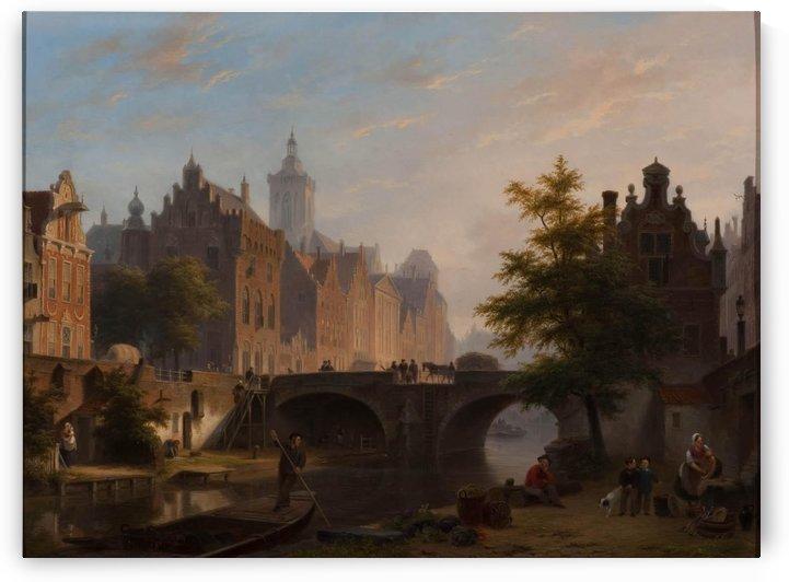 De Oude Gracht in Utrecht by Bartholomeus Johannes van Hove