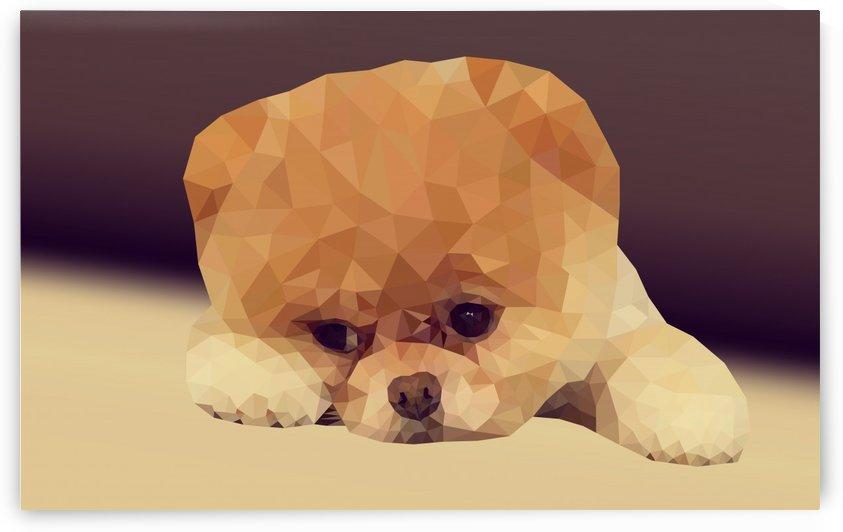Dog low poly art portrait by Hemal Suthar
