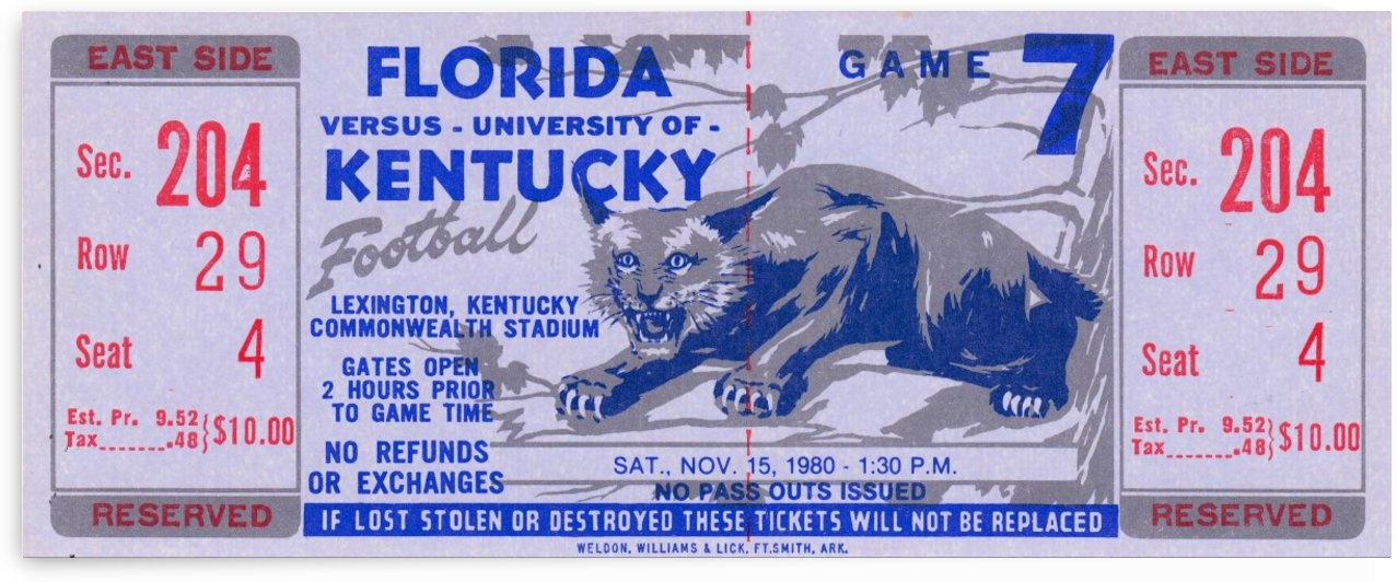 1980 Florida vs. Kentucky by Row One Brand